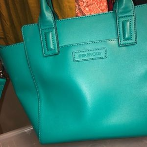 Vera Bradley Faux Leather Tote Teal